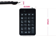 Latest white/black wireless numeric keypad keyboard
