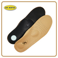 Sports EVA custom leather padded antistatic insoles for shoes YZRT-15163