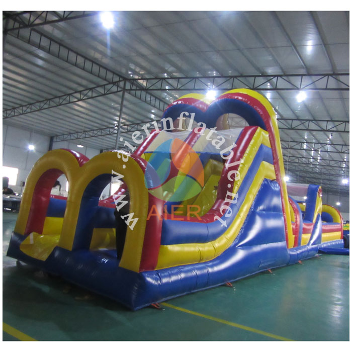 2016 Dual lane Inflatable Obstacle Course, inflatable sport game with CE certification