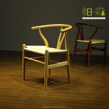 Living room chairs / dining stool / wooden chairs with rope rattan seat