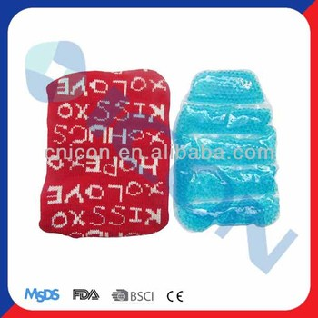 Gel beads ice pack for knee