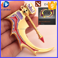 2015 Genuine DOTA 2 Broken Bone Hammer Weapon Metal Keychain