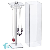 2016 Transparent Clear Jewelry Store Display Stands,Acrylic Necklace Display Rack,Wholesale Acrylic Jewellery Display Cases