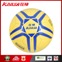 Kansa -1266 Modern Design Yellow &Blue Color Seamless PU Leather Young Football Ball