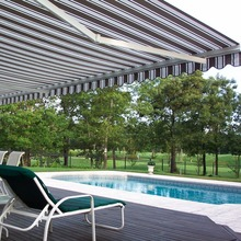China online shopping automatic retractable swimming pool awning