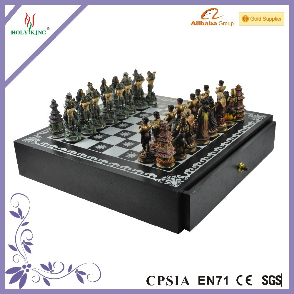 3D Colourful Resin Chess Set