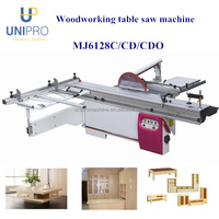China wood based panels machinery sliding table saw machine for panel cutting MJ6128C/CD/CDO
