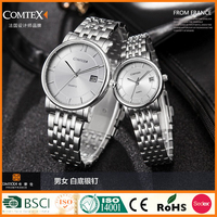 Pair Watch Lover's Gift Date / time display Water Resistant 1ATM/3ATM/5ATM With Free Logo SYM149043