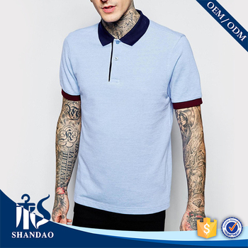 2016 Guangzhou shandao supplier new design casual summer 180g 100% polyester polo shirts for men from dubai