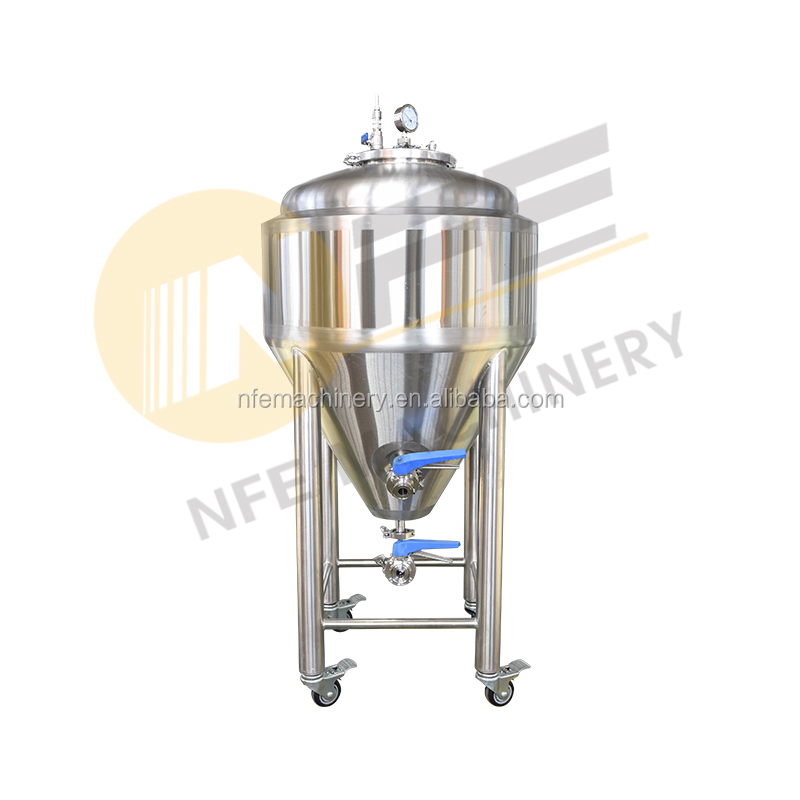 Craft Beer Nano home brew used stainless steel conical beer unitank 1bbl fermenter with Dimple plate cooling jackets