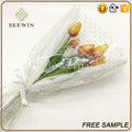 green doted bopp plastic bag for packing flowers