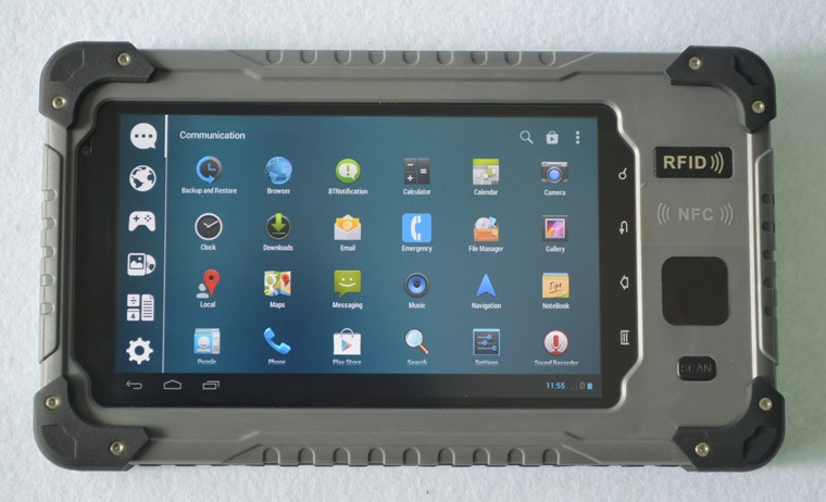 Cheapest Front NFC Tablet Rugged 7 Inch Quad-core Android 4.4 Rugged Android Tablet IP67