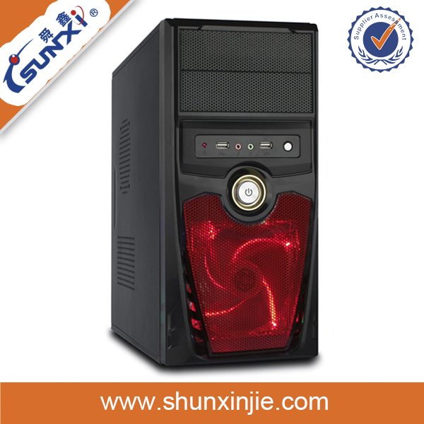 durable colorful fashional desktop computer case tower with handle