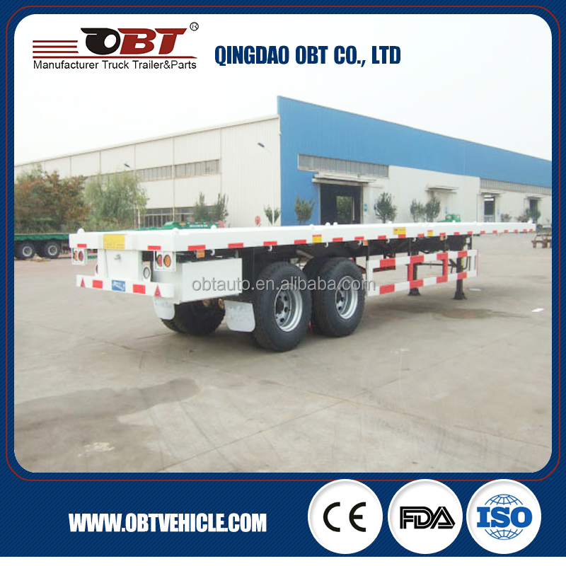 2 axle 20ft container flatbed trailer genuine parts