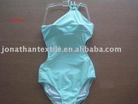 Glamous young lady's one piece swimsuits with one-shoulder style