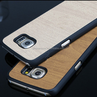 2016 Hot sales wood cell phone case for Samsung,latest wooden mobile phone csae for Samsung S6