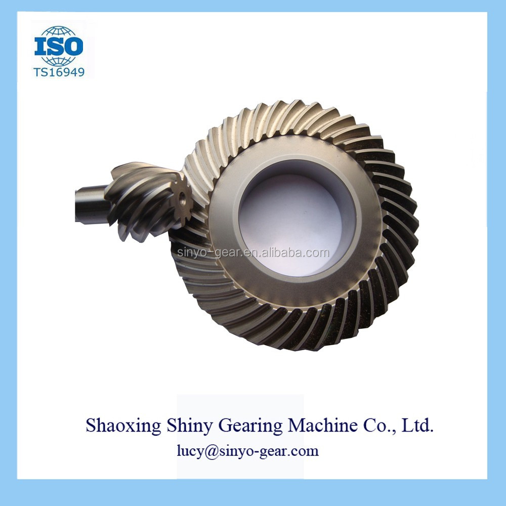 Reducing Machine Spiral Bevel Gear Made by Shiny Gearing Machine