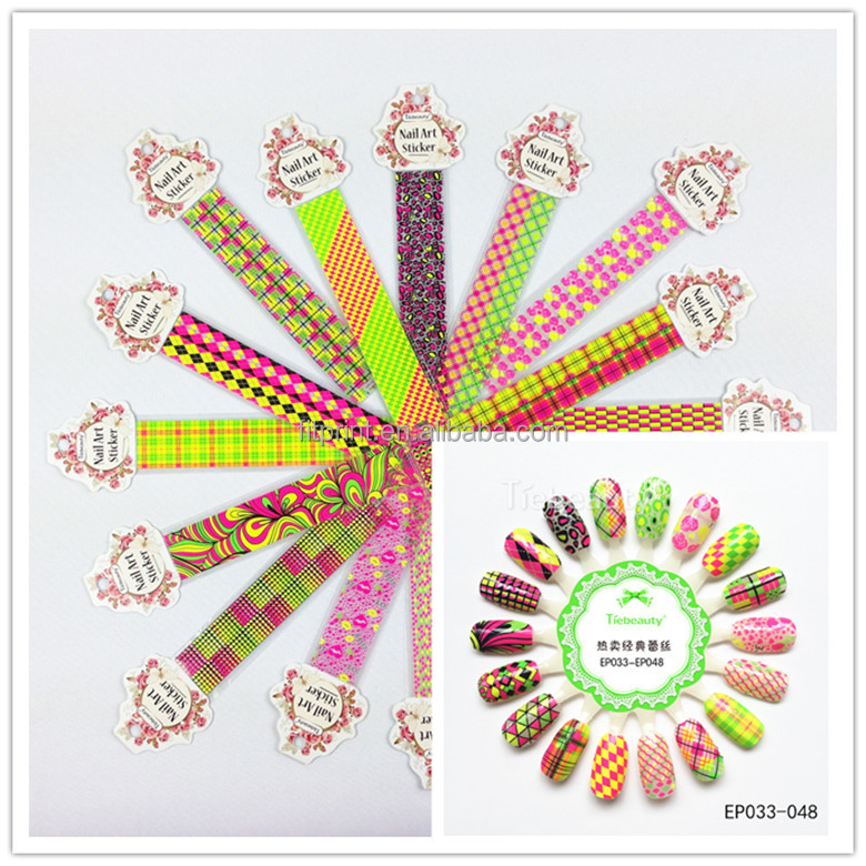 OEM colorful 2D self adhesice nail art sticker shiny transfer foil for DIY beauty foil stained