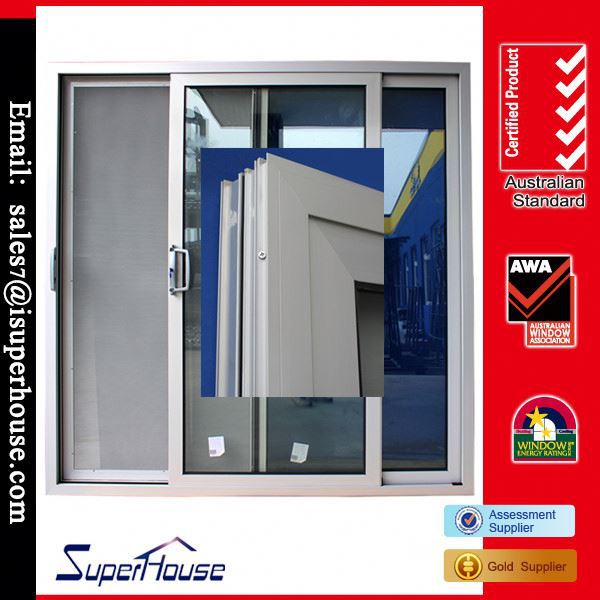 auto roller guide sliding door comply with AS2047 AS1288 AS2208 from Shanghai Superhouse