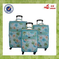 Baigou Luggage Factory Direct Exporting Ladies Spinner Four Wheels 3pcs Travel Garment Bag