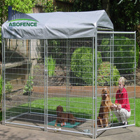 Welded wire panel Australian standard Large outdoor galvanized welded pet enclosure/dog kennels & dog cage & dog runs