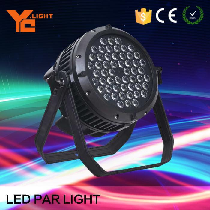 Waterproof Led Par RGBW 4in1 Stage Led Light Quad Color Mixing IP65 Outdoor&Indoor Suitable 54*3w Led Par Washing Show Lighting