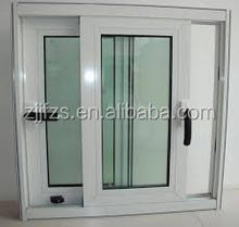 White Aluminum Sliding Windows with screen made in China, design windows for homes