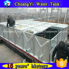 square type different size galvanized steel panel water tank/HDG panel water tank