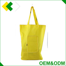 2017 new design polyester shopping bag customized cheap folding nylon foldable cheap shopping bag