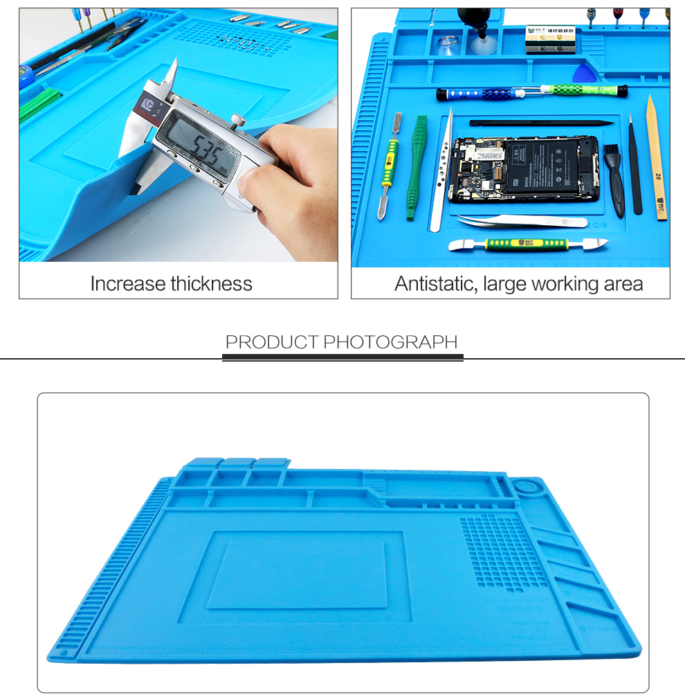 Heat resistant Silicone Mat BGA Soldering Insulation Pad Mobile Phone Repair Tools Maintenance Platform Desk Mat