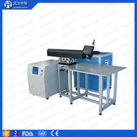 Huahai laser high frequency 200W 300W 400W conveyor belt channel letter laser welding machine for pvc used