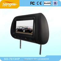 7 inch car headrest TFT-LCD DVD player With USB SD FM
