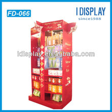 Pop up purchase of point,cardboard floor free standing display