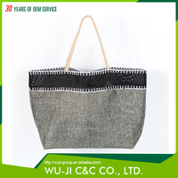 Fashionable any color polyester wholesale reusable shopping handle bag