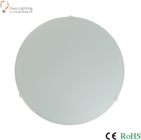2015 Promotional Item light LED 12w Round Glass Ceiling Lamp driver with CE ROHS for Indoor Lighting
