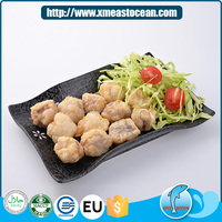Latest healthy Japanese style seafood snack frozen breaded monkfish cut