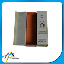 single bottle paper wine box paperboard rigid box flip wine case with cheap price