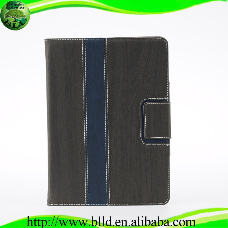 Hot seliing Wood grain leather flip cover case for <strong>Ipad</strong> 5