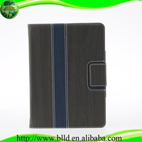Hot seliing Wood grain leather flip cover case for Ipad 5