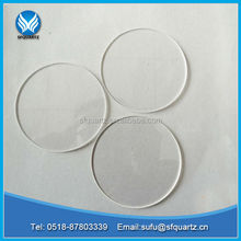 high quality transparent quartz glass plate