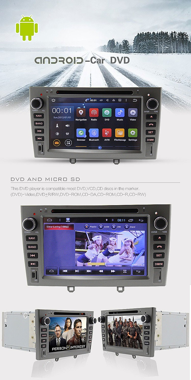 car android gps navigation for peugeot 308 408 car dvd radio system with 3g wifi