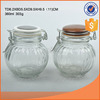 glass cruet with white cushion and clip 360ml