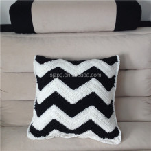 factory wholesale colorful hand knitted cushion cover