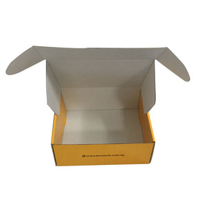 promotional durable white rectangular small corrugated box for package