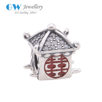 100% 925 Sterling Silver Jewelry Chinese Traditional Chic Wedding Charm Leather Bracelet Wholesale