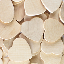 Round heart shaped unfinished custom wood cutout circles decoration crafts