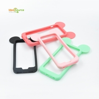 Customized Silicone frame bumper Covers Soft Rubber Cartoon Mobile Phone Case, Bracelets, Hair Rings