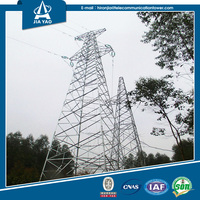Distribution power galvanized electricity transmission lattice tower