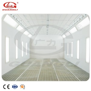 CE Approved Water Based Auto Paint Baking Room Spray Booth With Centrifugal Fan