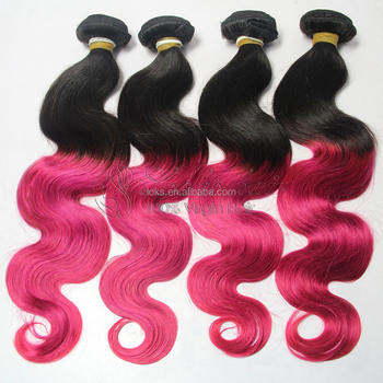 new products ombre brazilian hair weave pink supply from xuchang hair factory